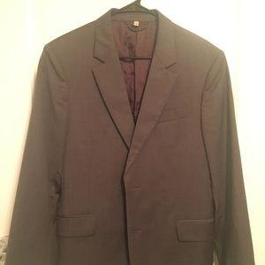 Burberry Charcoal Men's Sport Coat / Suit Jacket